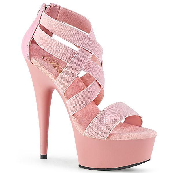 Plateau Sandalette baby pink mit elastischen Riemchen DELIGHT-669